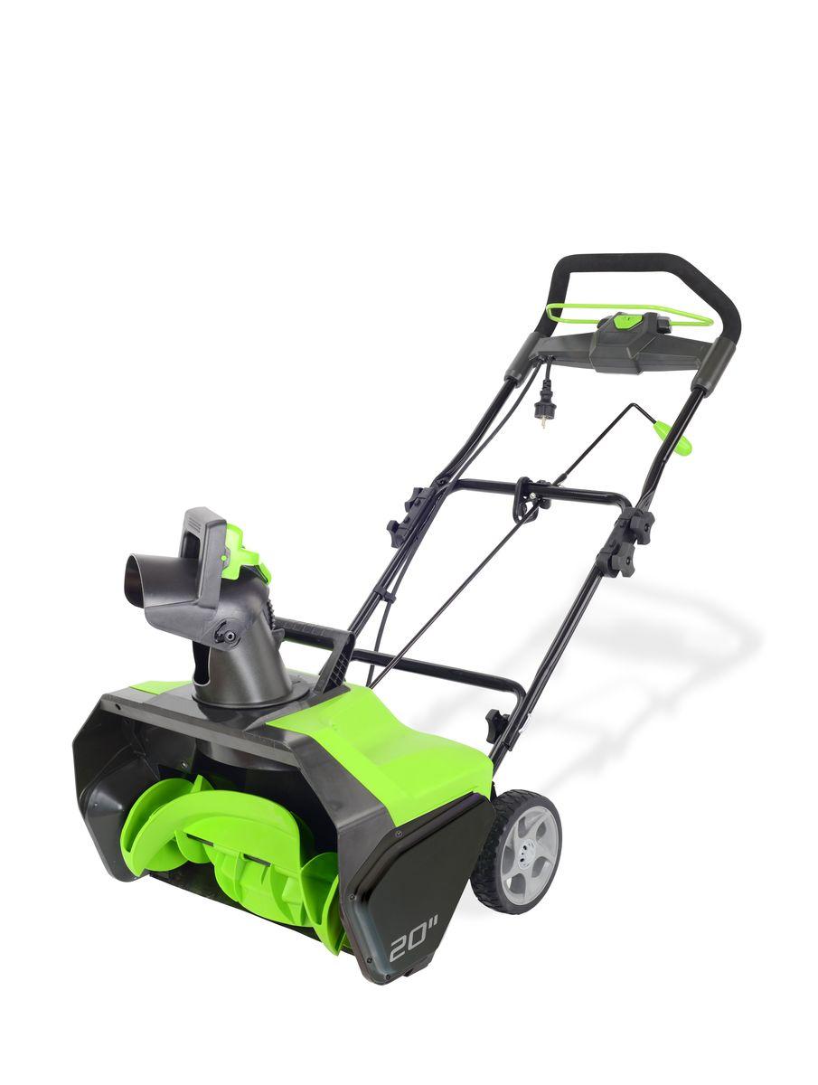 Снегоуборщик электрический Greenworks  GES13 , 1800 Вт, 51 см - Садовая техника