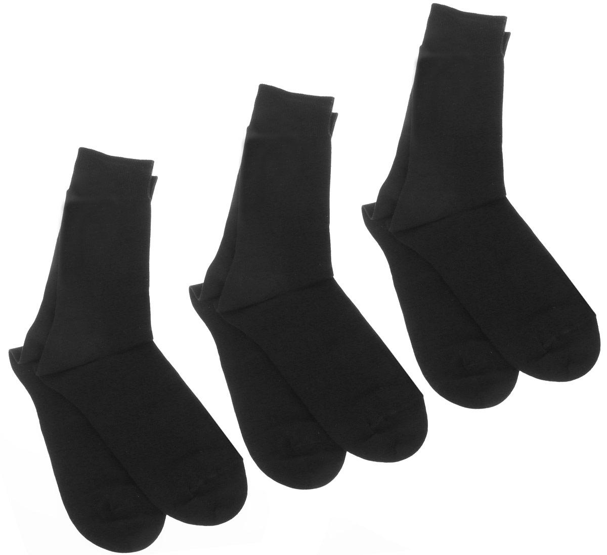 Носки мужские Smart Textile Гигиена-грибок, противогрибковые и антимикробные, цвет: черный, 3 пары. Н416. Размер 23