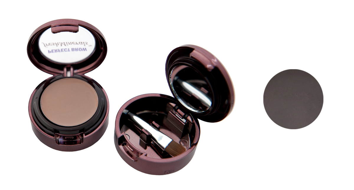 freshMinerals Тени для бровей с минералами, оттенок: Brown Black, 1,5 г905493
