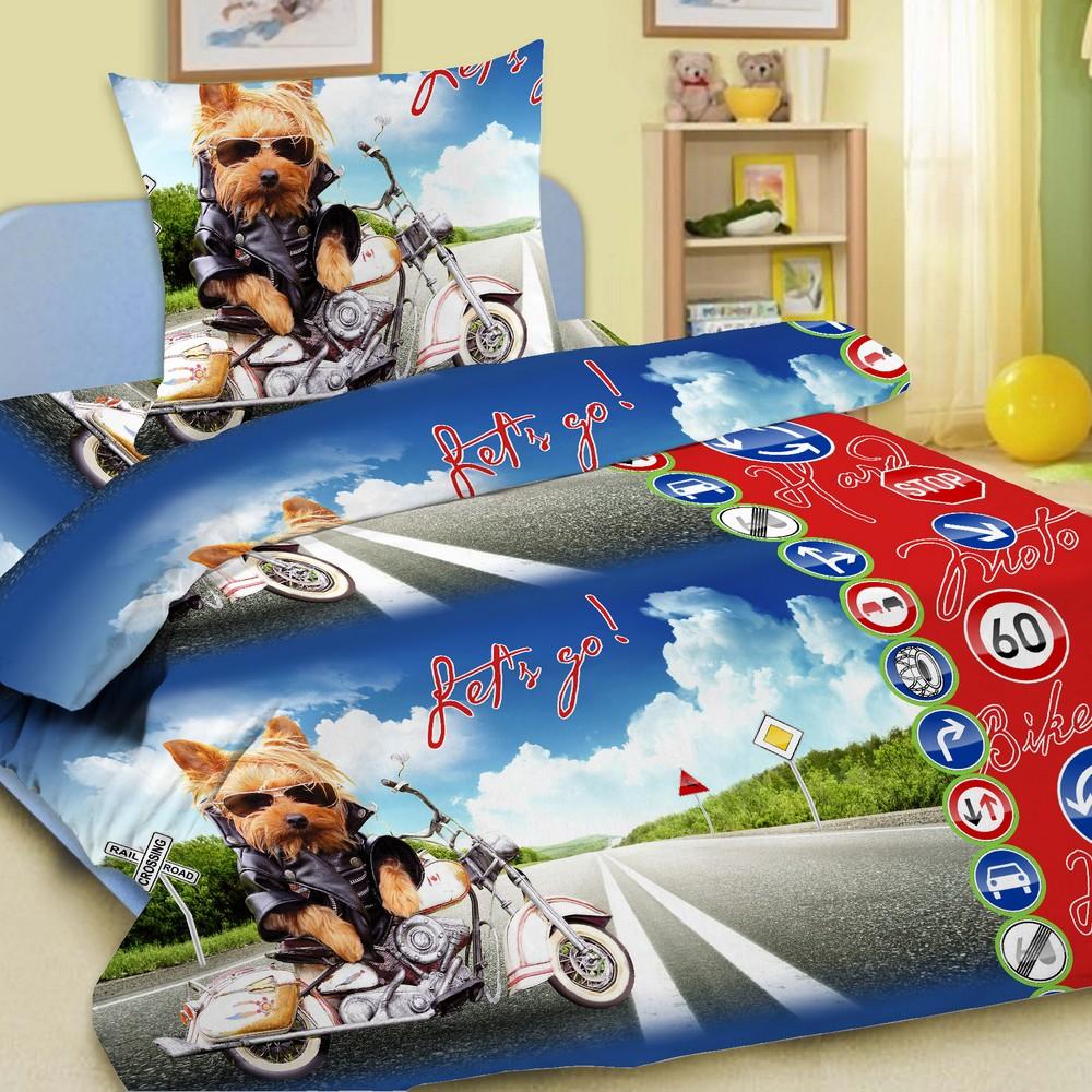 Letto Комплект детского постельного белья СупербайкСупербайк50Letto.kids - это веселые детские и подростковые дизайны, в хлопковом исполнении с хорошими устойчивыми красителями и все это по очень доступной цене! Такое белье прослужит долго и выдержит много стирок. Рисунок на наволочке может отличаться от представленного на фото.
