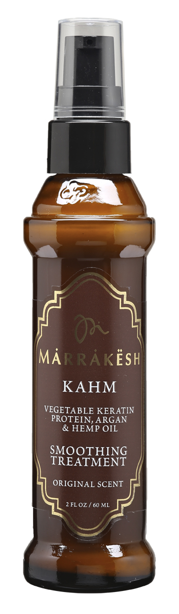 Marrakesh Сыворотка для волос с кератином Kahm, 60 млMKKA075Разглаживающий компонент улучшает внутреннюю силу волоса и сохраняет влагу- Продукт изготовлен только из натуральных ингредиентов, без добавления вредных химических элементов- Разглаживает прямые волосы, добавляет волосам мягкость и блеск, фиксирует, делает более послушными кудрявые и завивающиеся волосы - Обеспечивает продолжительное увлажнение волос, убирает нежелательную пушистость- Можно использовать на окрашенных волосах- Протеины растительного кератина глубоко проникают внутрь волоса, делая тем самым волосы сильнее изнутри и препятствуют их повреждению- Масло Арганы и Конопли разглаживает и делает непослушные волосы более эластичными, убирая нежелательную пушистость и сохраняя влагу внутри волоса- Специально разработанная формула, не содержащая химических компонентов разглаживает волосы, не причиняя им вреда