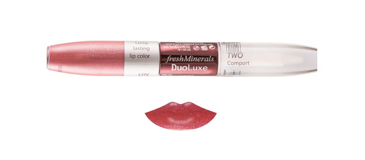 цена на freshMinerals Блеск для губ с двойным эффектом, оттенок: Cherry Red 7 мл