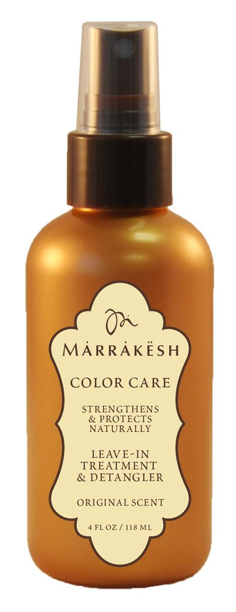 Marrakesh Несмываемое средство, спрей для окрашенных волос Color Original, 118 млMKCX075Мгновенно увлажняет и восстанавливает волосы. - Облегчает расчесывание и помогает распутать даже самые сухие, тонкие волосы. Защищает от пушистости и статического электричества. - Придает волосам естественный блеск. - Защищает цвет окрашенных волос от выгорания. - Обладает надежной UV и термо защитой.- Уникальный комплекс масел Арганы и Конопли значительно улучшает состояние и текстуру волос- В состав продукта входит Пантенол, который увлажняет и облегчает расчесывание- Антиоксиданты и кислоты естественного происхождения препятствуют повреждению- Натуральные экстракты трав укрепляют кутикулу