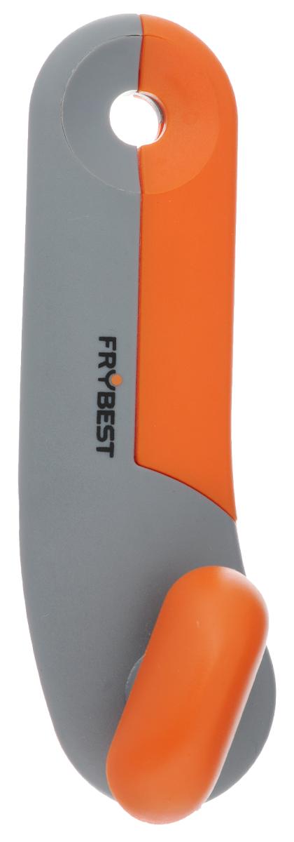 Открывалка для банок Frybest Rainbow, цвет: серый, оранжевыйCO-003_серый/оранжевыйОткрывалка Frybest Rainbow выполнена из высококачественной нержавеющей стали и пластика. Прибор легко и безопасно открывает все типы консервных банок, не оставляя заусенцев на краях. Порадуйте себя и своих близких качественным и функциональным подарком.Длина открывалки: 16,5 см.