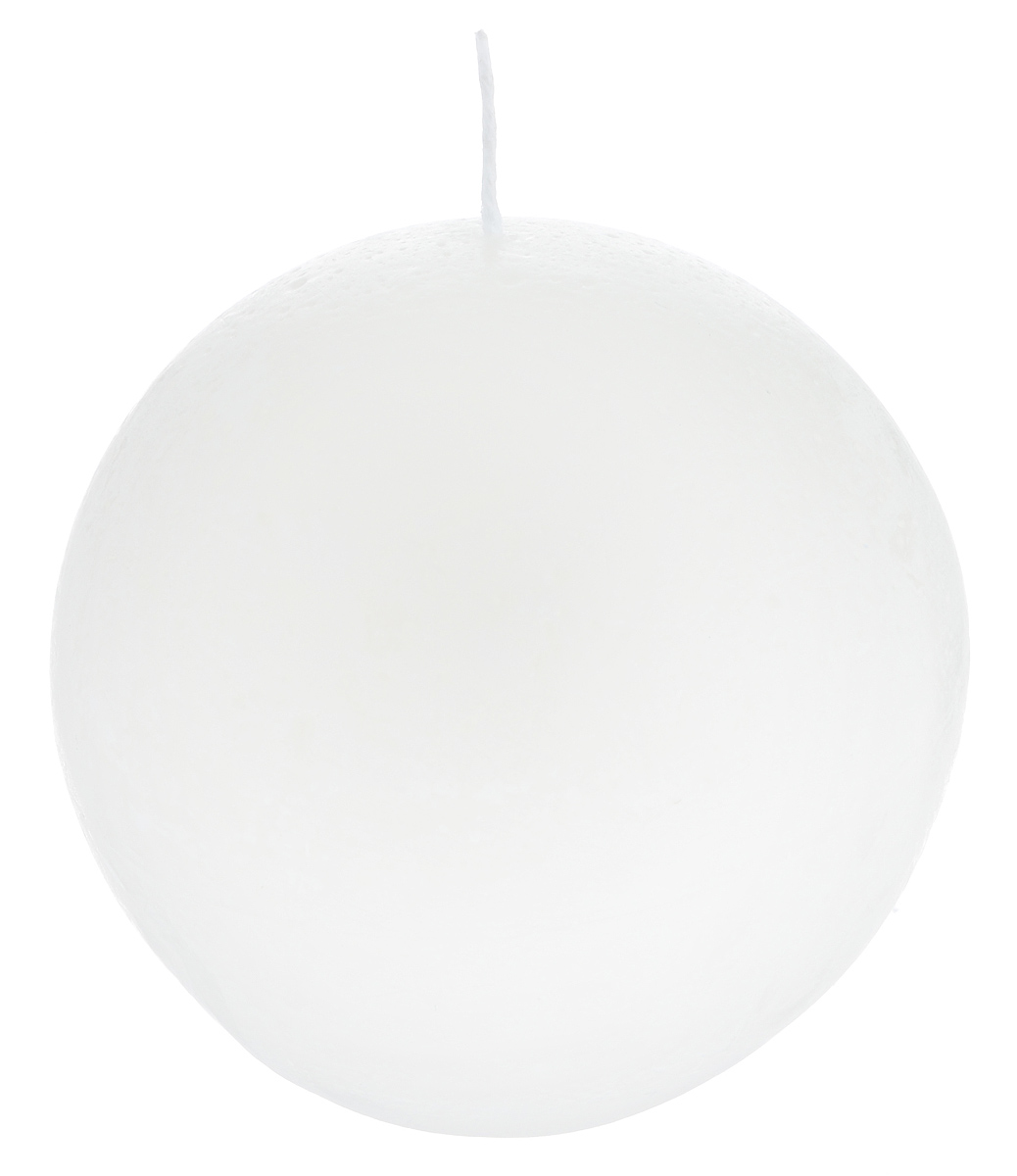 Свеча декоративная Proffi Шар, цвет: белый, диаметр 7,5 см proffi films pfm021