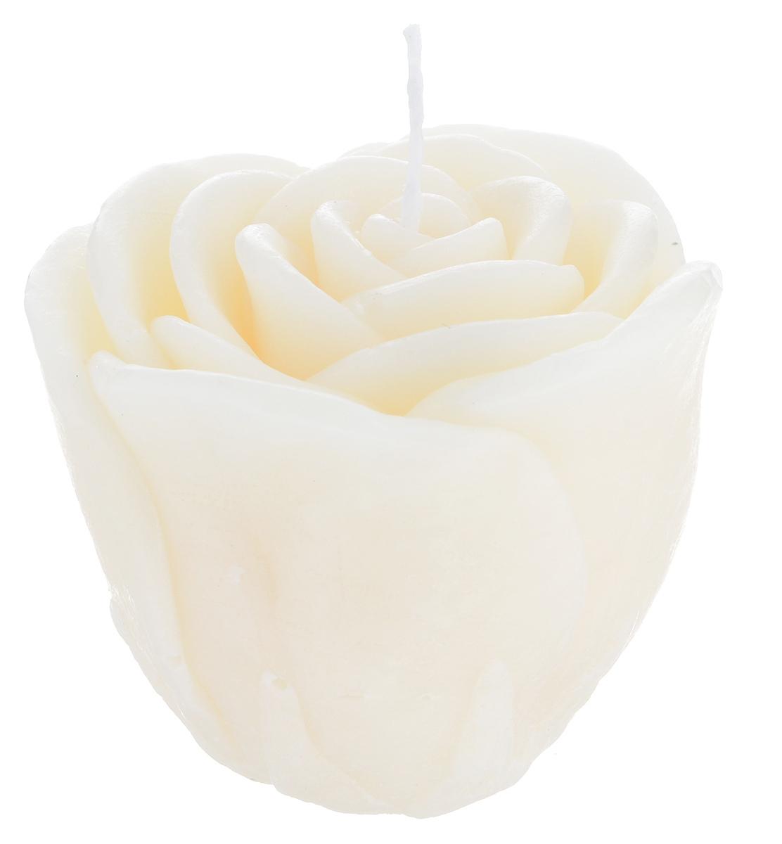 Свеча декоративная Proffi Большая роза, цвет: бежевый, 7 х 7 х 6 смPH5925Декоративная свеча Proffi Большая роза изготовлена из парафина и стеарина, а фитиль из хлопка. Изделие выполнено в виде розы. Предназначена для освещения и украшения помещений. Такая свеча может стать отличным подарком или дополнить интерьер вашей спальни или гостиной.