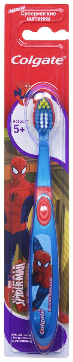 Colgate Зубная щетка Spider-man, детская, с мягкой щетиной, от 5 лет, цвет: синий, красныйFCN21701_розовыйДетская зубная щетка Colgate Spider-man предназначена для детей, у которых еще есть молочные и уже появились постоянные зубы. Разноуровневые щетинки тщательно очищают молочные и прорезывающиеся зубки. Удлиненные кончики эффективно очищают труднодоступные межзубные промежутки зубов. Удобная ручка с упором для большого пальца не скользит, обеспечивая лучший контроль. А благодаря яркому и привлекательному дизайну, ежедневная чистка зубов станет удовольствием для вашего ребенка. Товар сертифицирован.