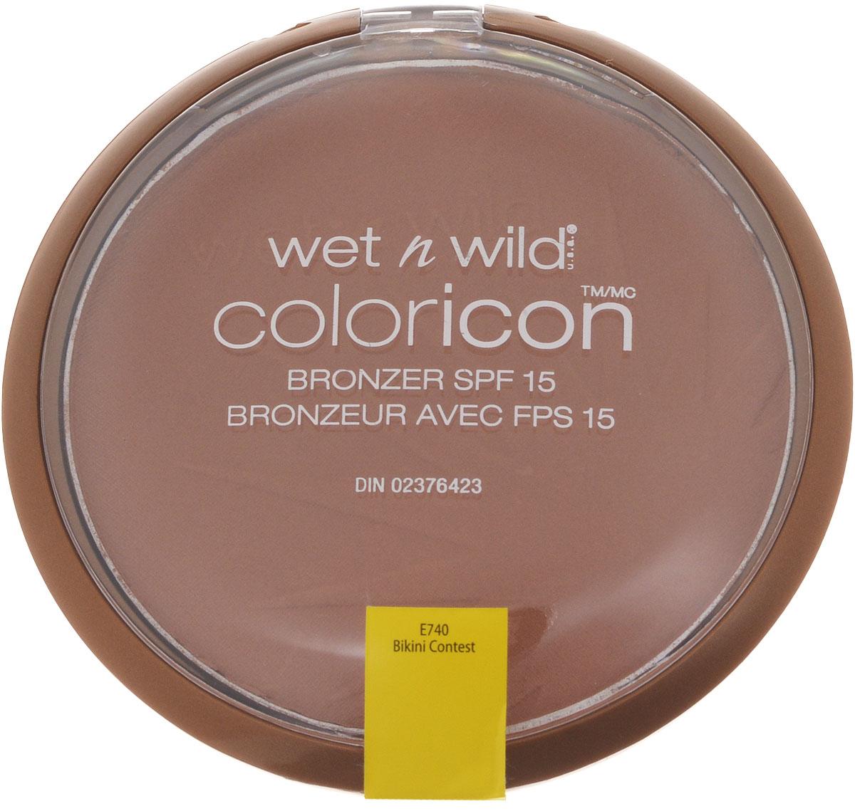 Wet n Wild Компактная Пудра Для Лица Бронзатор Color Icon Bronzer bikini contest 13 гр wet n wild воск для бровей color icon brow shaper e631 a clear conscience