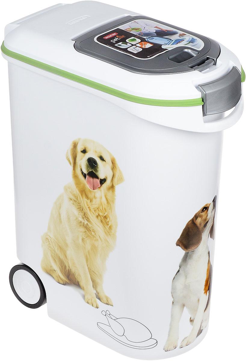 Контейнер Curver Pet Life для хранения сухого корма, с колесами и ковшиком, 54 л