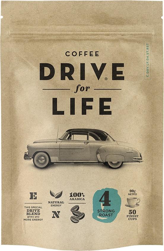 Drive for Life Strong кофе сублимированный, 90 г кофе черный парус сублимированный 85г