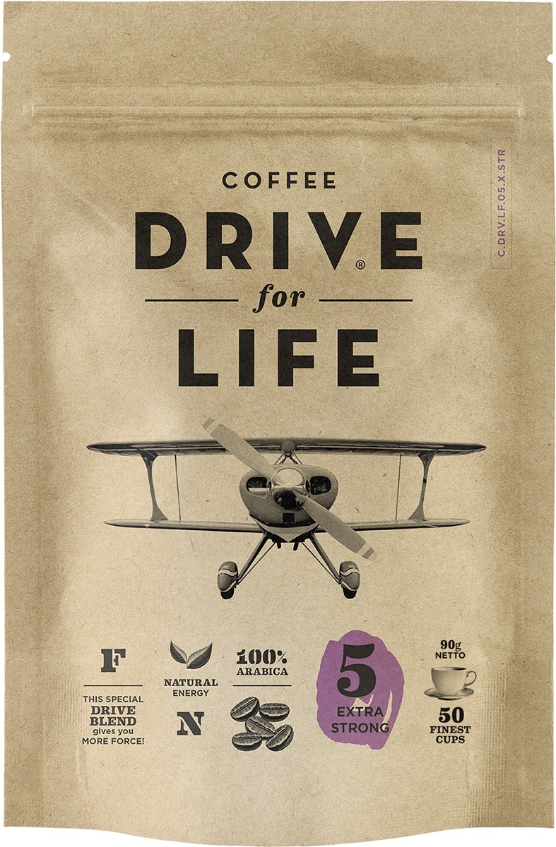 Drive for Life Extra Strong кофе сублимированный, 90 гУПП00005147Кофе натуральный растворимый сублимированный Special Blend Drive - специально подобранные сорта Бразильской и Колумбийской Арабики, при обжарки которых вырабатывается натуральный кофеин высокого качества. Улучшает внимание, память и обеспечивает энергией на длительное время.