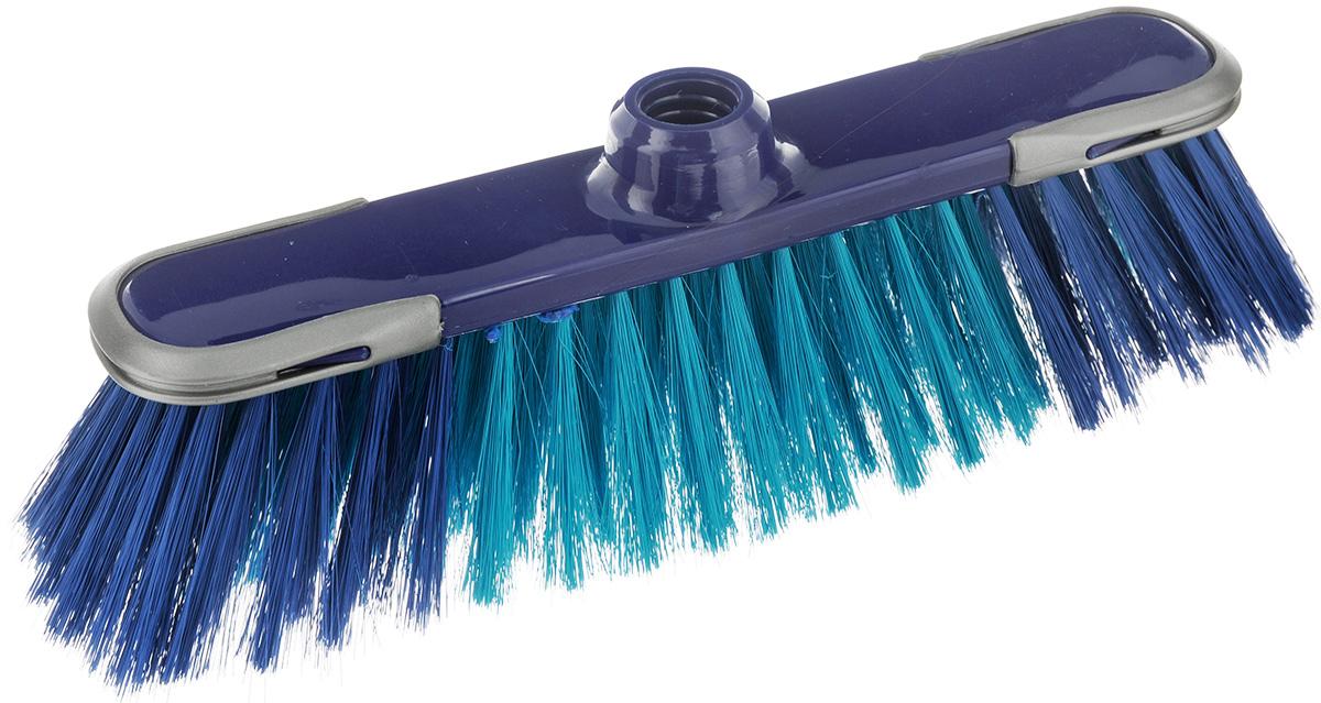 Щетка-насадка для пола York Сабрина, цвет: синий, зеленый5001Щетка-насадка York Сабрина изготовлена из сложных полимеров. Мягкие волокна, расположенные в средней части щетки, идеально очистят от пыли, песка и золы. Система анти-авария предотвращает повреждения на стенах и мебели. Изделие оснащено универсальной резьбой, которая подходит ко всем видам ручек.Размер щетки: 32 х 8 х 10 см.Длина ворса: 7 см.Диаметр отверстия под ручку: 2,2 см.