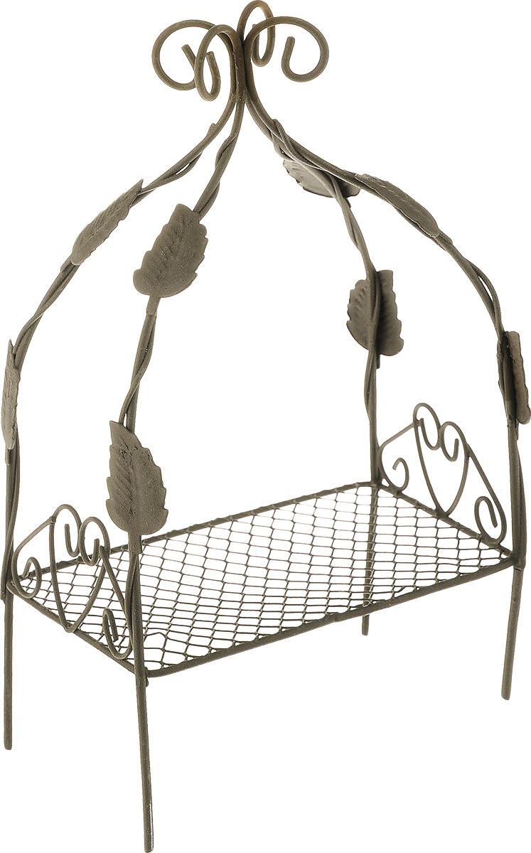 Миниатюра кукольная ScrapBerrys Мини-кровать, 10 х 7,5 х 18 см544108Миниатюра кукольная ScrapBerrys Мини-кровать изготовлена из высококачественного металла в виде кровати.Изделие украшено изящными коваными завитками и листочками.Такая миниатюра прекрасно подойдет для декорирования кукольных домиков, а также для оформления работ в самых различных техниках. С ее помощью можно обставлять румбокс. Можно использовать в шэдоубоксах или просто как изысканные украшения для скрап-работ.