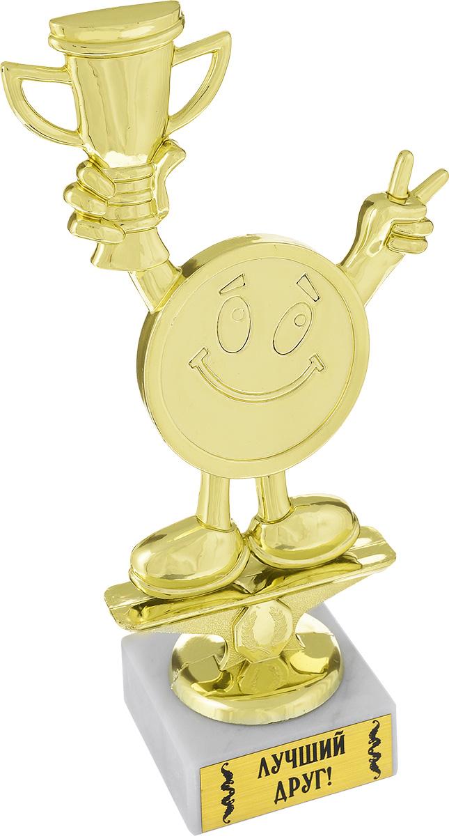 Кубок Город Подарков Лучший друг!, высота 18 см030547001Кубок Город Подарков Лучший друг! станет замечательным сувениром. Изделие выполнено из пластика с золотистым покрытием. Основание, изготовленное из искусственного мрамора, оформлено надписью Лучший друг!.Такой кубок обязательно порадует получателя, вызовет улыбку и массу положительных эмоций.Высота кубка: 18 см.Размер основания: 5,5 см х 5,5 см.