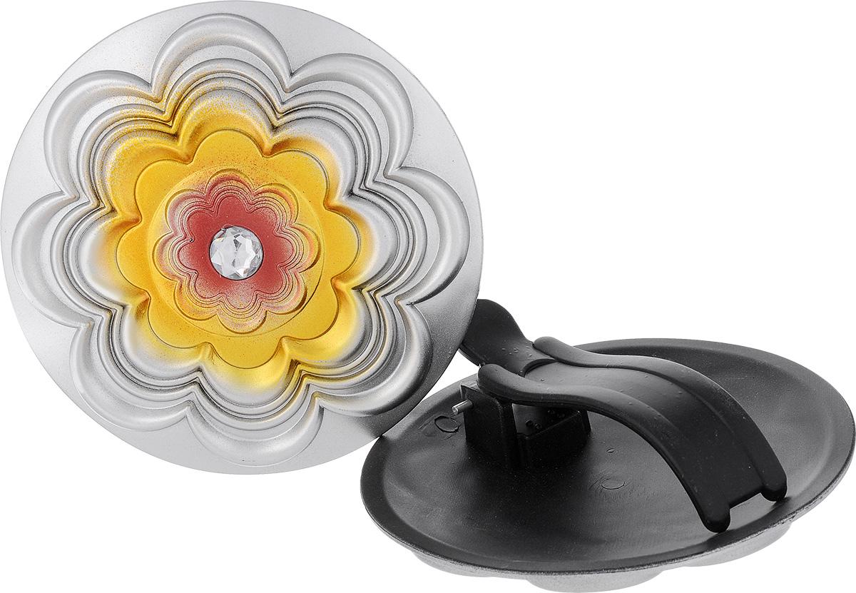 """Клипса для штор """"Goodliving"""", цвет: серебристый, диаметр 13 см, 2 шт"""