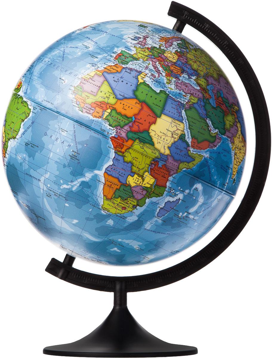 Globen Глобус Земли политический диаметр 320 ммК013200016Глобус - уменьшенная и понятная, даже детям, модель земного шара, помогает в развитии пространственного воображения и формирования правильного мировосприятия подрастающего поколения. Глобусы Globen изготавливаются из высококачественных материалов и являются отличным наглядным пособием для школьников и студентов.