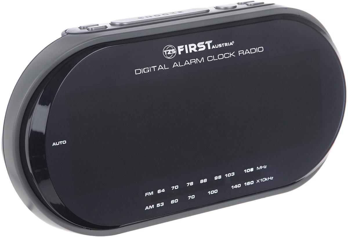 First 2409-1-RF, Grey радиочасыFA-2409-1-RF GreyFirst 2409-1-RF - радиочасы с LED-дисплеем диагональю 1,8 дюйма. Устройство имеет кварцевый стабилизатор, а также различные дополнительные функции: подъем под музыку или звонок, диммер, двойной будильник, календарь, а также таймер отключения. Яркость подсветки устройства вы можете регулировать по своему вкусу.Также можно активировать отложенный сигнал чтобы поспать еще немного времени.