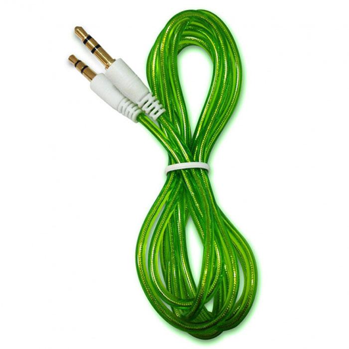 Human Friends Shine, Green аудиокабель (3,5 мм jack-jack)Shine GreenHuman Friends Shine - аудио-кабель, который поможет вам ни на секунду не расставаться с музыкой. Он соединит ваш телефон или плейер с аудиосистемой автомобиля, с аудио разъёмом компьютера или ноутбука, с портативной колонкой и, в общем, со всем, что воспроизводит звук через 3,5 мм соединение.Главное достоинство Shine - в его внешнем виде. Он выгодно отличается от привычных и скучных расцветок стандартных кабелей. При этом не забыто и качество - коннектор покрыт противокоррозионным составом, а гарантия 5 лет позволит вам рассчитывать на нашу поддержку практически в течение всей жизни устройства.