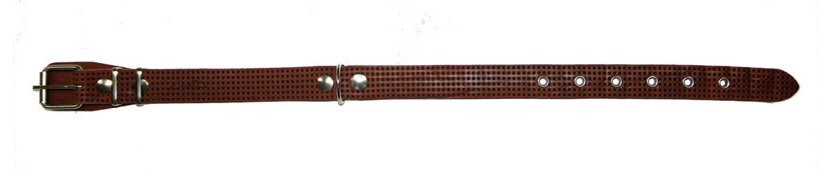 Ошейник Аркон, с тиснением, цвет: коньячный, ширина 25 мм. о25фк коньячный набор