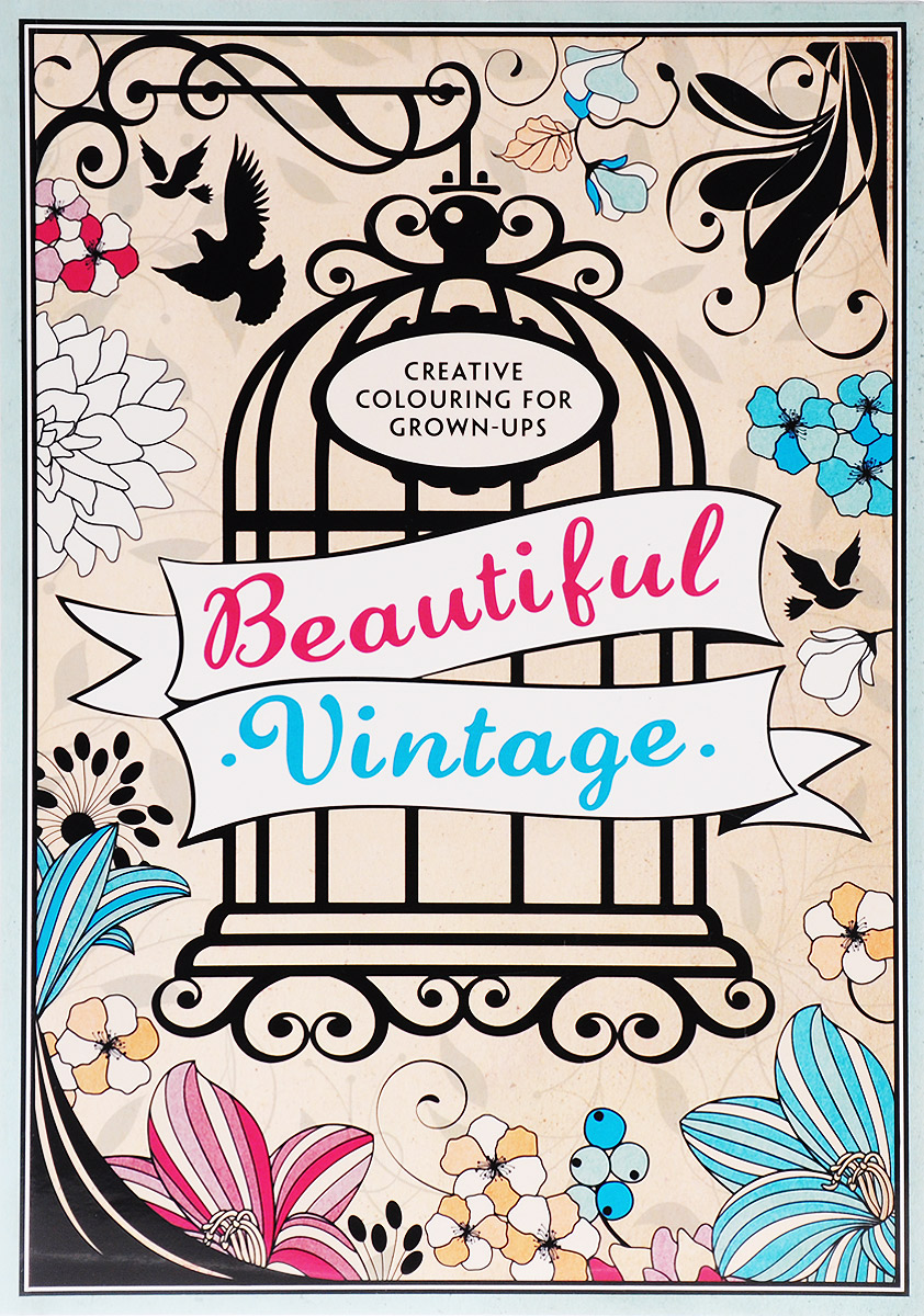 Beautiful Vintage: Creative Colouring for Grown-Ups folk art patterns to colour
