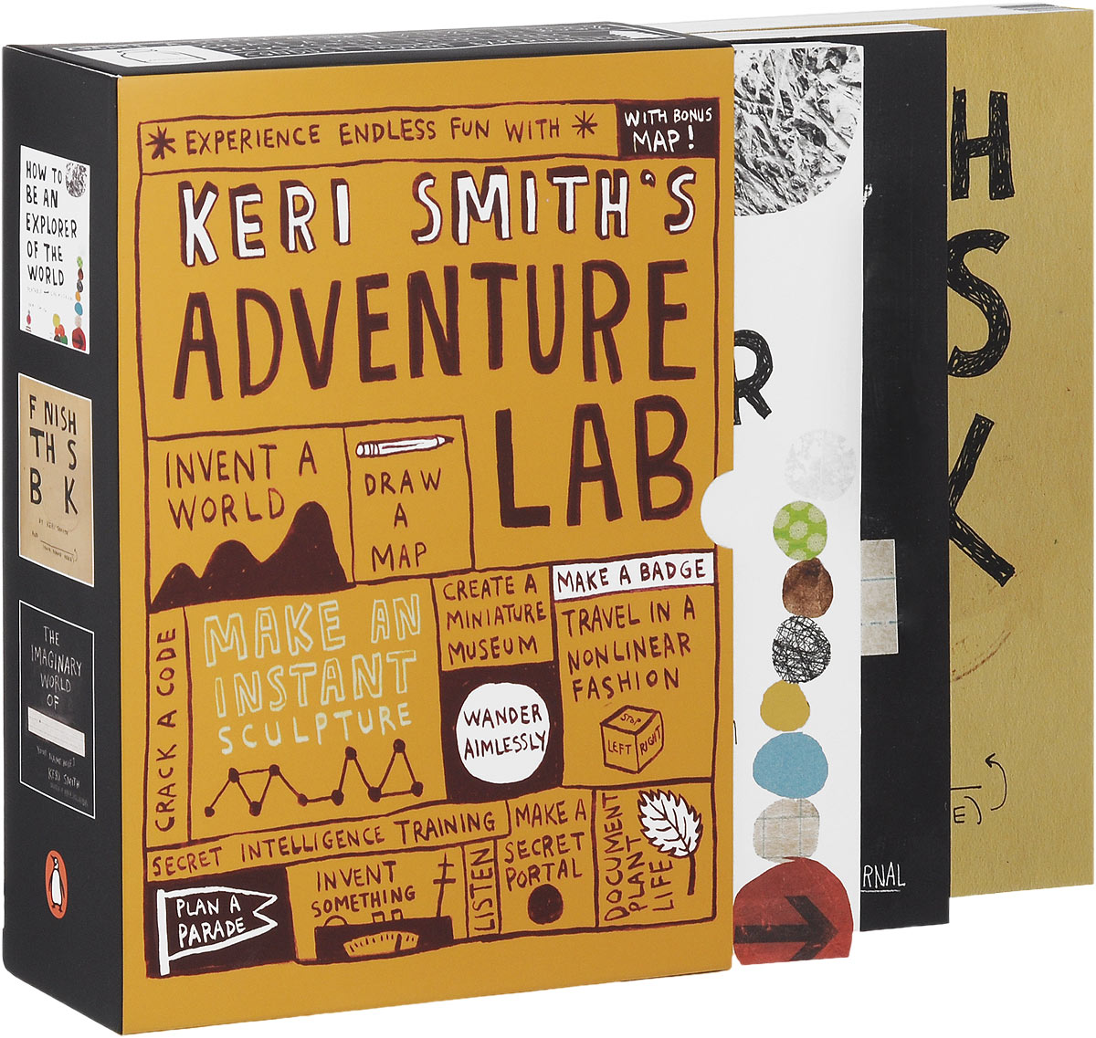 Keri Smith's Adventure Lab (комплект из 3 книг) клэр селби tom and keri colouring book 1 том и кери книга раскраска 1