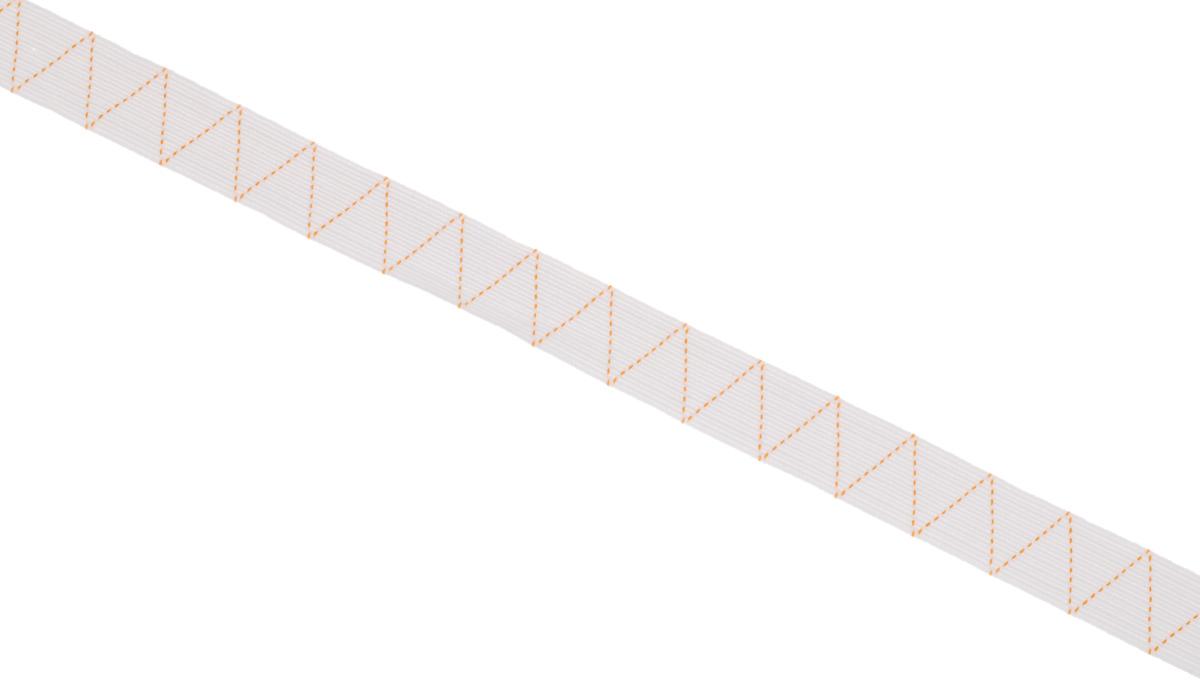 Лента эластичная Prym, стандартная, цвет: белый, ширина 2 см, длина 25 м693525Стандартная лента Prym - это плетеная эластичная лента с фирменным золотистым зигзагом, которая при растяжении сужается, а резиновые нити здесь расположены равномерно. Выполнена из полиэстера (65%) и эластомера (35%). Длина: 25 м.Ширина: 2 см.