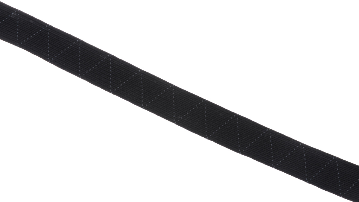 Лента эластичная Prym, стандартная, цвет: черный, ширина 2 см, длина 25 м лента декоративная prym клетка цвет белый черный 15 мм 3 м