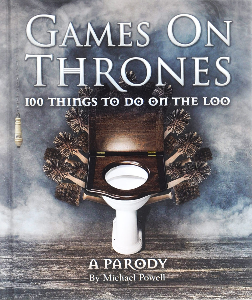 Games on Thrones: 100 Things to Do on the Loo recessed toilet paper tissue towel roll paper holder silver