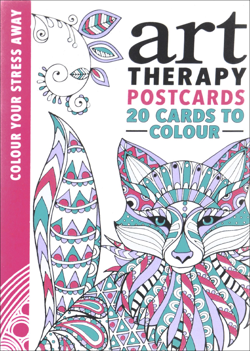 Art Therapy Postcards 25 postcards to colour on holiday