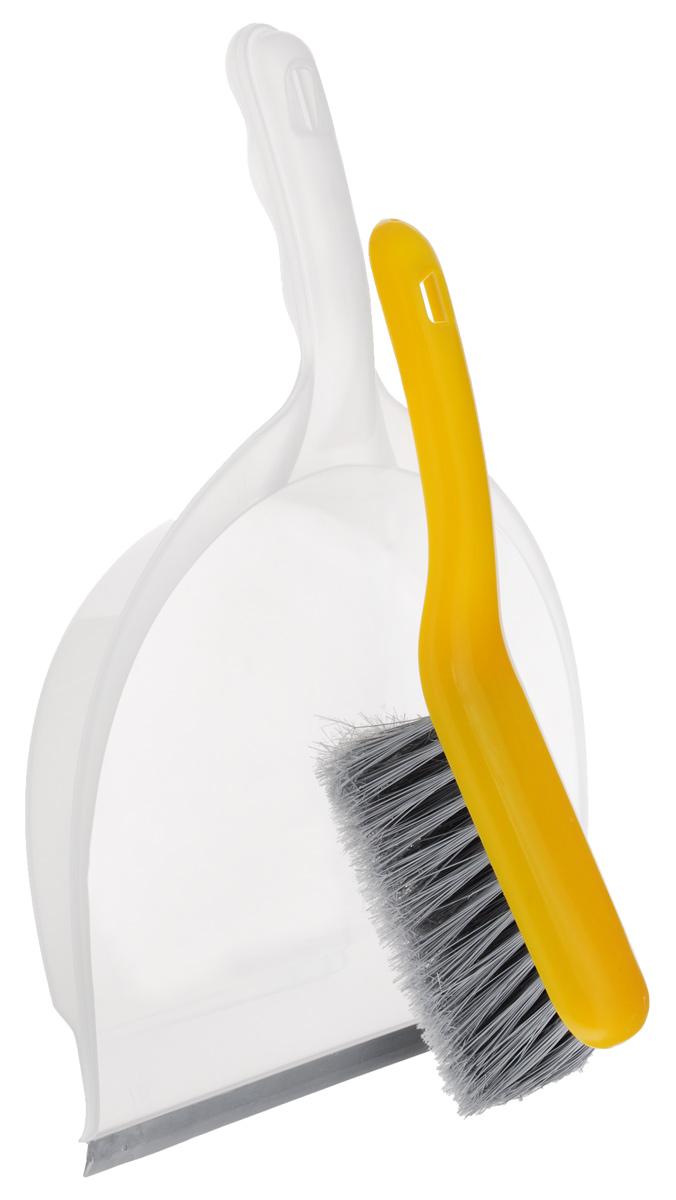 Совок Apex Big, со щеткой, цвет: желтый, прозрачный11702-A_желтый, прозрачныйНабор Apex Big включает щетку с синтетическим ворсом и совок, изготовленный из высококачественного пластика.Набор идеально подходит для уборки мусора с пола.Для дополнительного удобства совок и щетка снабжены специальнойпетелькой, с помощью которой, вложив щетку в совок, их можно разместить в любом месте.Размер совка с ручкой: 39 см х 22 см х 5,5 см.Размерщетки: 26 см х 6 см х 10 см.