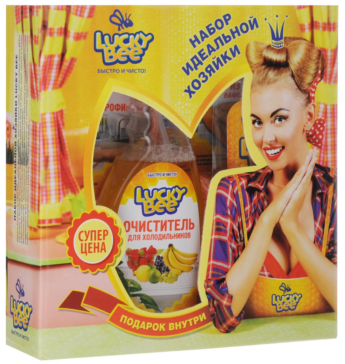 Набор для холодильника Lucky Bee, 3 предмета + ПОДАРОК: Блокнот-магнит на холодильникLB 7502+LB7209+LB7205Набор для холодильника Lucky Bee состоит из очистителя для холодильников, салфетки из микрофибры, блокнота-магнита для записей и вафельной салфетки из микрофибры. Очиститель для холодильников эффективно удаляет загрязнения с внутренних поверхности холодильников и морозильных камер. Уничтожает бактерии, вызывающие неприятные запахи и плесень.Придает обработанным поверхностям блеск и свежий аромат. Не требует смывания водой. Выпускается в форме спрея.Объем: 473 мл.Состав: деминерализованная вода, менее 5%: смесь неионогенных и анионных ПАВ, усилитель блеска, этилцеллозольв, нейтрализатор запахов, консервант, отдушка, краситель. Уникальная салфетка изготовлена из синтетических микроволокон. Изделие устойчиво к истиранию и отличается своей сверхмягкостью. Микрофибра многократно превосходит большинство тканей по влагопоглощающим свойствам благодаря особенности захватывать и удерживать жидкость. Салфетка деликатно удаляет загрязнения с любых поверхностей с использованием чистящих средств или без них. Обладает антистатическими свойствами. Не оставляет разводов и ворсинок. Можно стирать при t 40 °C.Размер салфетки: 40 х 40 см.Плотность: 300 г/м2.Материал: микрофибра. Вафельная салфетка изготовлена из фактурной микрофибры. Прочные нити основания бережно отслаивают частицы загрязнений. Высокопрочные полимерные волокна ткани устойчивы к истиранию и деформации. Салфетка быстро удаляет сложные загрязнения с кухонных плит, холодильников и другой бытовой техники, кафеля, сантехники, водонапорных кранов. Не оставляет разводов и ворсинок. Можно стирать при температуре 40°C.Размер салфетки: 55 х 60 см.Плотность: 300 г/м2.Материал: микрофибра. Блокнот-магнит Быстро и чисто с отрывным блокнотом для записей. Листы оформлены в виде бланков с полями для заполнения.Как выбрать качественную бытовую химию, безопасную для природы и людей. Статья OZON Гид
