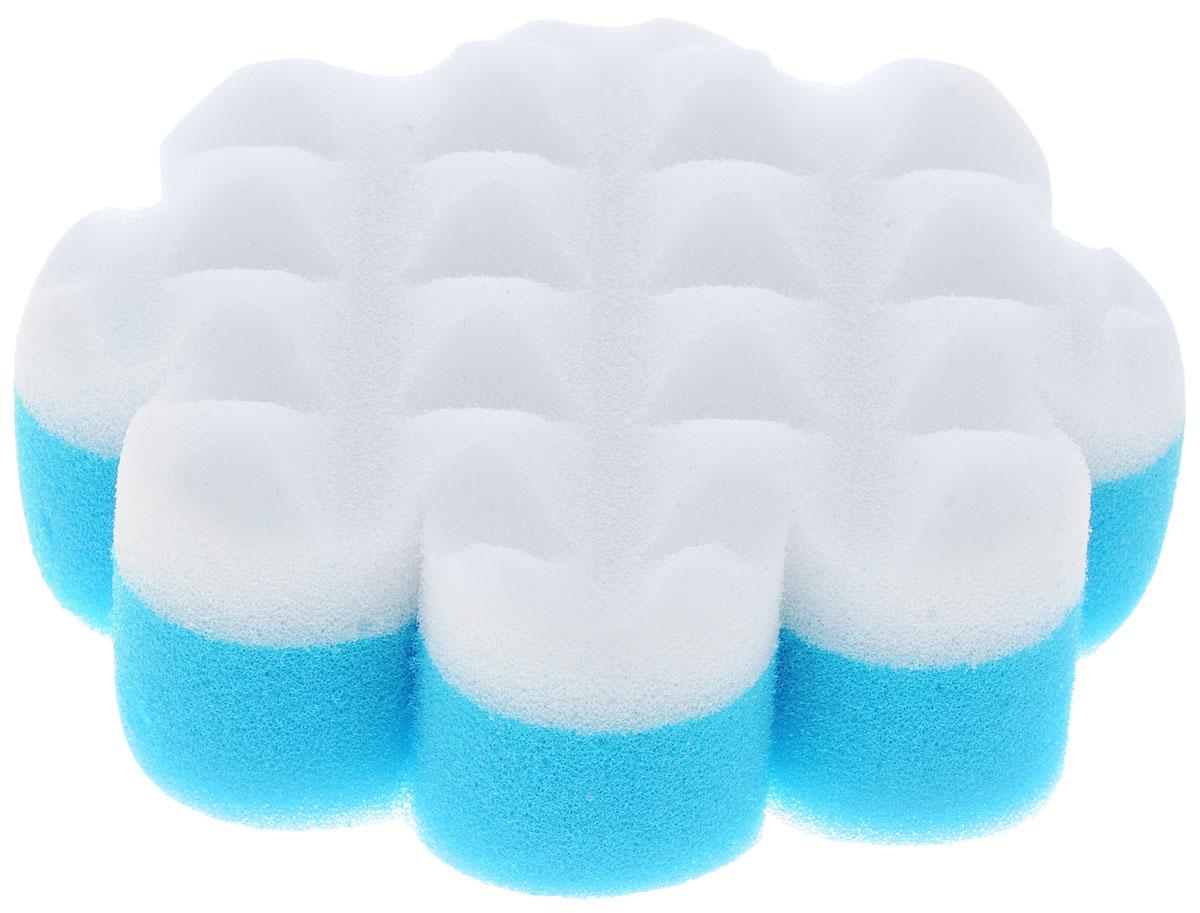 Курносики Мочалка с массажным слоем Цветок цвет голубой белый40505_голубой, белыйМочалка Курносики в форме цветка обеспечивает мягкий уход за кожей малыша при купании и отлично взбивает мыльную пену. Детская мочалка имеет форму, комфортную для рук, а также массажный слой, помогающий удалять загрязнения. Такая мочалка поможет вам провести купание малыша мягко и комфортно.Мочалка с массажным слоем Курносики прослужит вам длительно, радуя вас и вашего малыша.