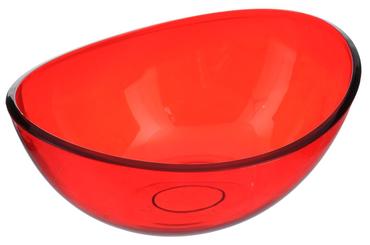 Салатник Idea Кристалл, цвет: красный, 2,5 лМ 1352Салатник Idea Кристалл изготовлен из высококачественного пищевого полистирола. Такой салатник прекрасно подойдет для сервировки салатов, фруктов, ягод. Прекрасный вариант для дачи и отдыха на природе. Объем: 2,5 л. Размер (по верхнему краю): 27 х 21,5 см. Высота стенки: 11 см.