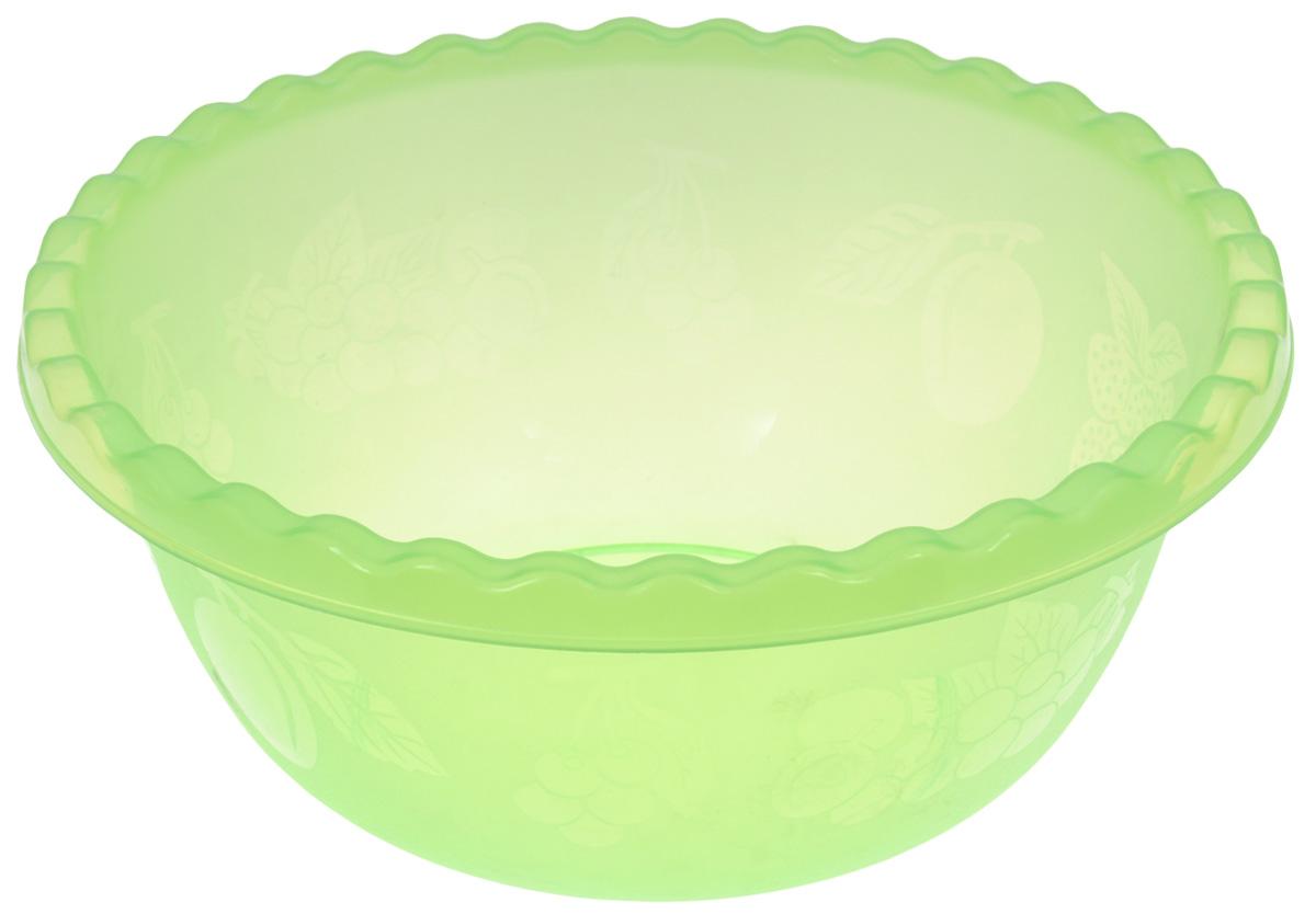 Миска Idea, цвет: салатовый, 8 лМ 1314Вместительная миска Idea изготовлена из высококачественного пищевого пластика. Изделие очень функциональное, оно пригодится на кухне для самых разнообразных нужд: в качестве салатника, миски, тарелки. Стенки изделия оформлены изображением фруктов.Диаметр миски по верхнему краю: 33 см.Объем: 8 л.