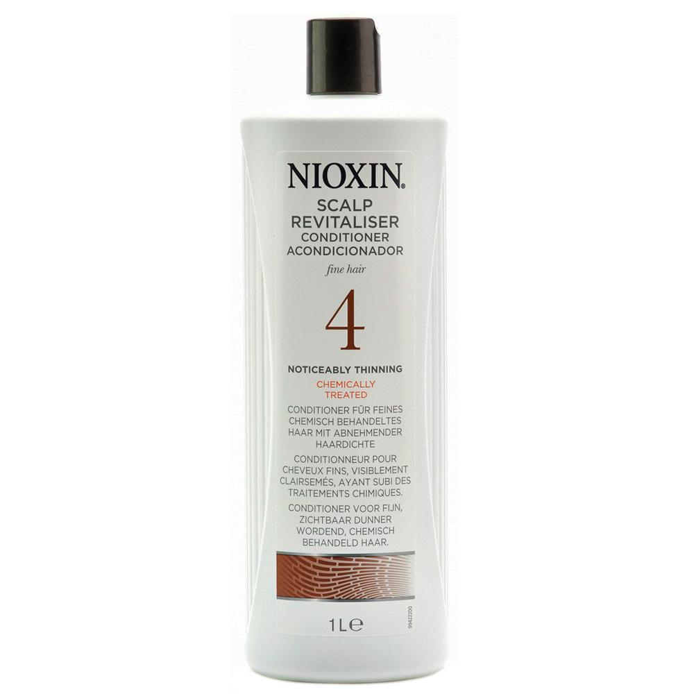 Nioxin Scalp Увлажняющий кондиционер (Система 4) Revitaliser System 4, 1000 мл81274166Увлажняющий кондиционер из Системы 4 от Ниоксин предназначен для волос, которые поддались химической обработке и склонны к выпадению. Средство насыщает волосы влагой и энергией, а также смягчает кожу головы и снимает раздражения. Кондиционер от Ниоксин подходит для ежедневного применения, и каждый день балансирует и нормализует состояние ваших волос.