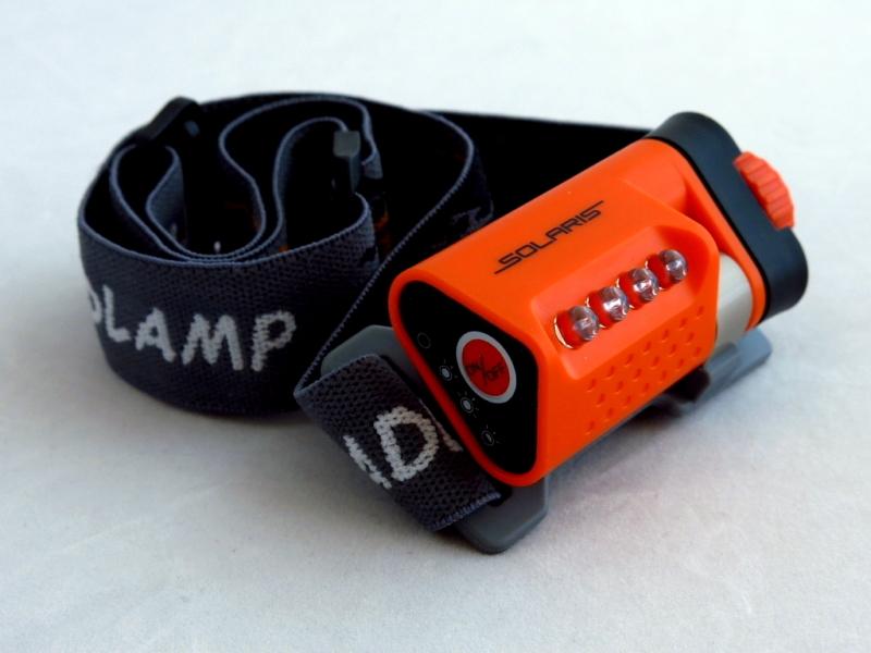 Фонарь светодиодный Solaris L40, налобный, цвет: оранжевый фонарь брелок эра 1xled с лазерной указкой