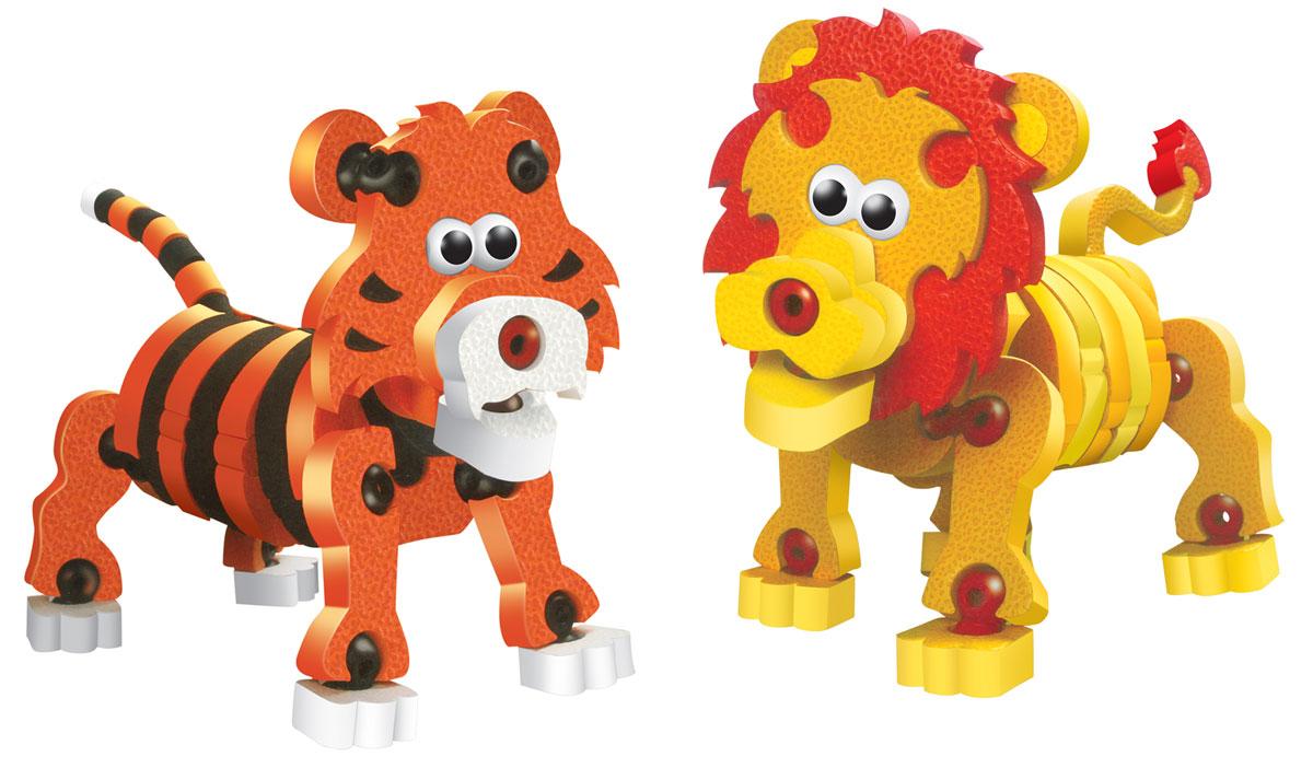 Bebelot 3D мягкий конструктор Тигры и львы игрушка для активного отдыха bebelot захват beb1106 045