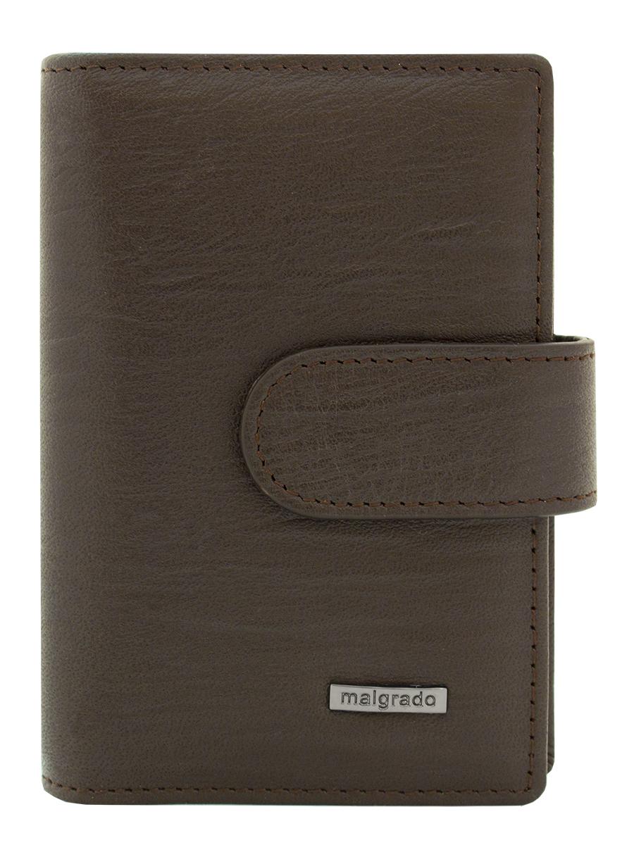 Визитница мужская Malgrado, цвет: коричневый. 42003-52601
