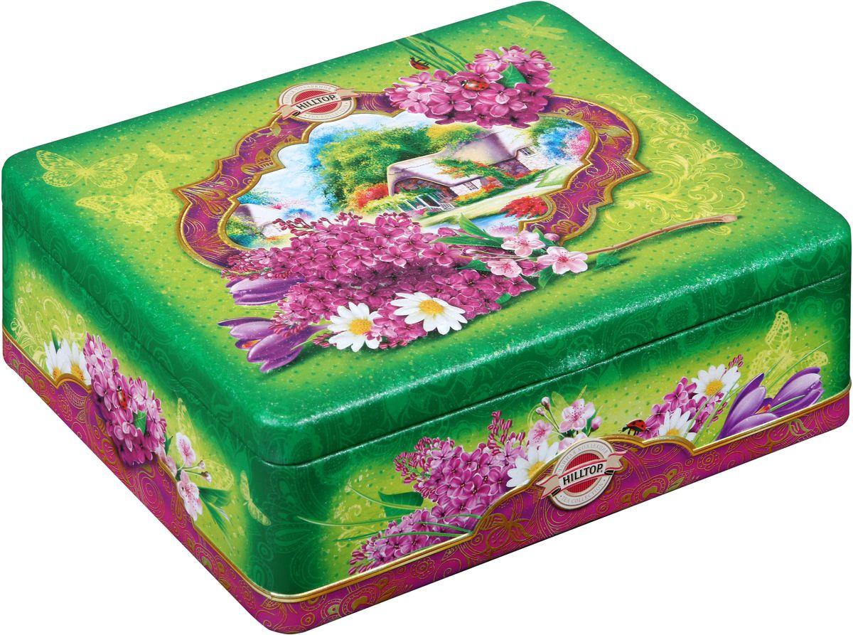 Hilltop Цветущая сирень чайный набор, 200 г конфэшн минутки вафли со вкусом сливок айриш крим 165 г