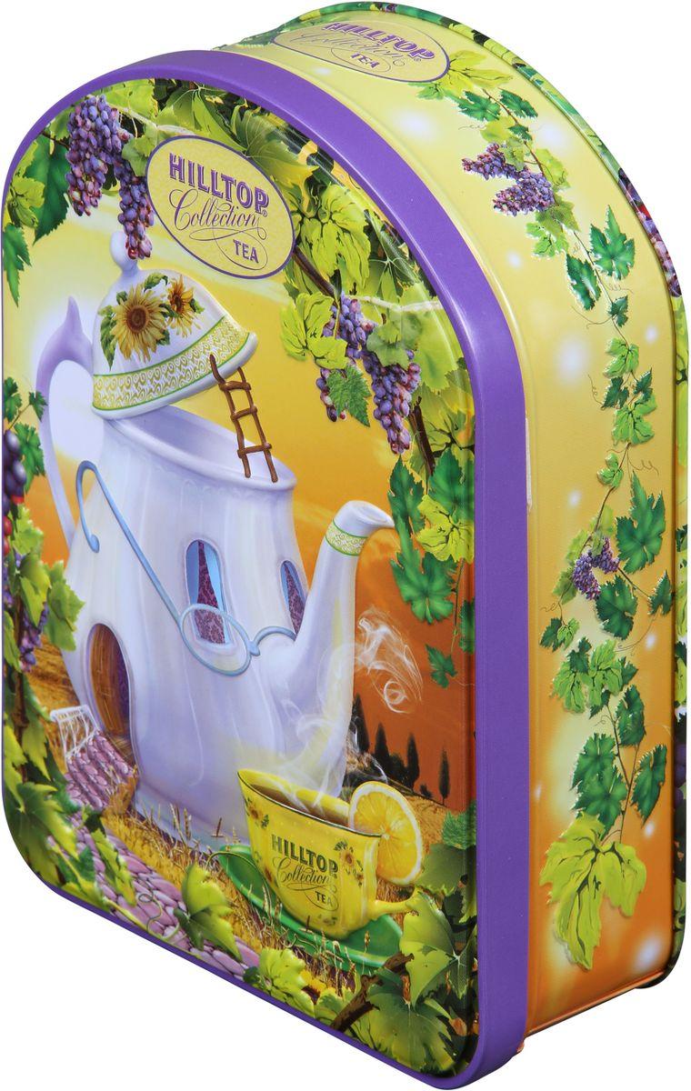 Hilltop Веселый чайник Подарок Цейлона черный листовой чай, 100 г4607099304789Hilltop Веселый чайник Подарок Цейлона - крупнолистовой цейлонский черный чай с глубоким, насыщенным вкусом и изумительным ароматом. Благодаря красивой праздничной упаковке вы можете подарить этот прекрасный чай своим друзьям и близким.Всё о чае: сорта, факты, советы по выбору и употреблению. Статья OZON Гид