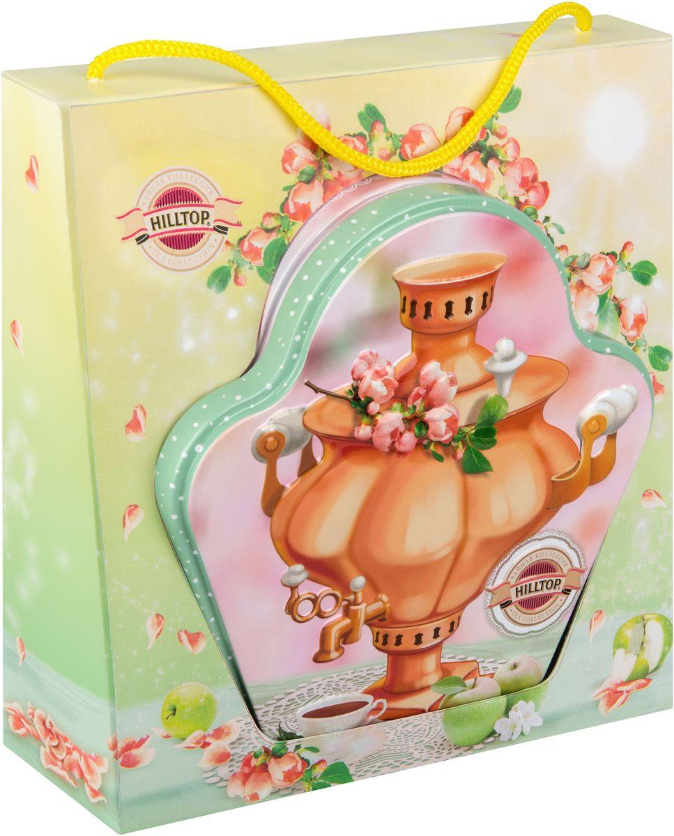 Hilltop Русское чаепитие черный листовой чай, 100 г (в футляре)4607099305434Hilltop Русское чаепитие — черный чай стандарта Супер Пеко с лучших плантаций Цейлона. Выращен в экологически чистой зоне. Настой с глубоким золотистым цветом и изумительным ароматом.