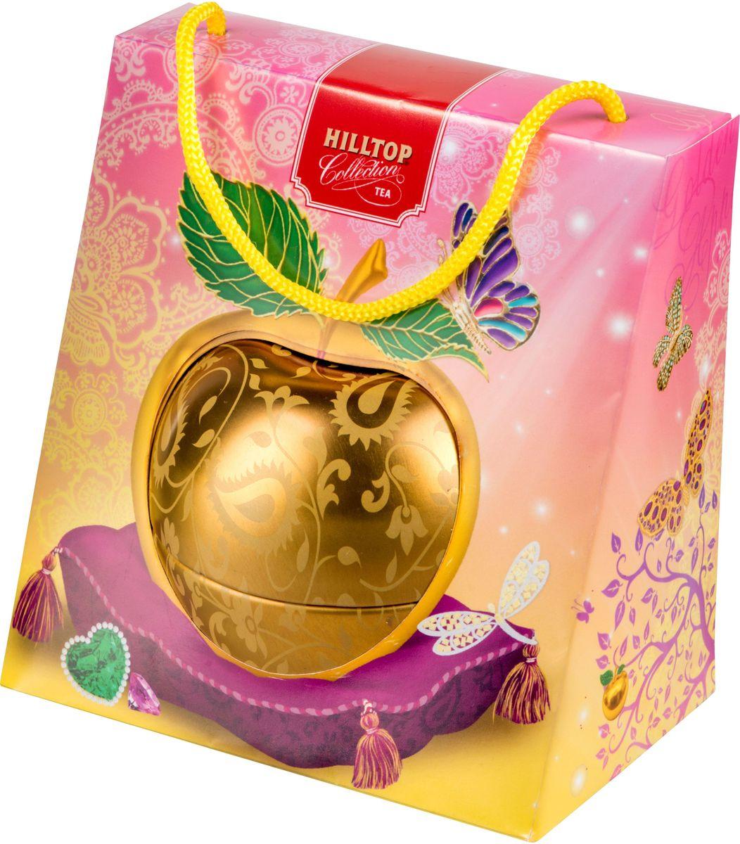 Hilltop Золотое яблочко Королевское золото черный листовой чай, 50 г4607099305793Hilltop Золотое яблочко Королевское золото - черный чай стандарта Супер Пеко с лучших плантаций Цейлона. Выращен в экологически чистой зоне. Настой с глубоким золотистым цветом и изумительным ароматом послужит великолепным дополнением к праздничному столу, а благодаря красивой праздничной упаковке вы можете подарить этот прекрасный чай своим друзьям и близким.