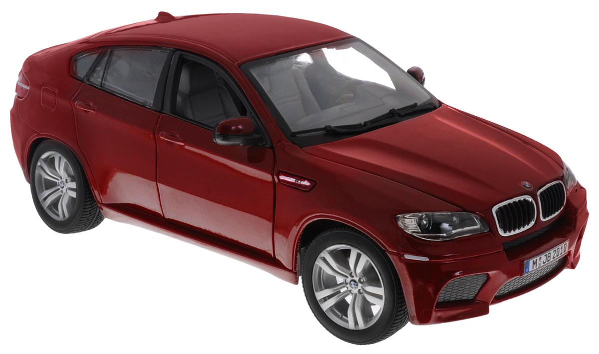 Bburago Модель автомобиля BMW X6 M цвет бордовый bburago bmw z4 m coupe