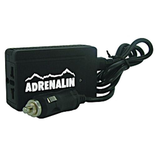 Инвертер автомобильный Adrenalin Power Inverter 120 DuoA80683SAdrenalin Power Inverter 120 Duo - это розетка 220В в вашем автомобиле! Инвертер предназначен для питания и зарядки различных портативных электронных устройств. Выходной мощности хватит для работы с ноутбуком, видеокамерой, DVD-плеером, вы сможете заряжать аккумулятор мобильного телефона или других элементов питания. Прибор подключается к разъему автомобильного прикуривателя (только 12В!) и сразу же готов к работе. Прибор оснащен крайне полезной функцией - двумя USB-портами.