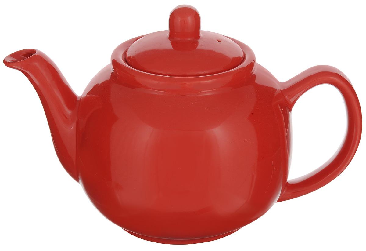 Чайник заварочный Loraine, цвет: красный, 940 мл24870Заварочный чайник Loraine изготовлен из высококачественной доломитовой керамики высокогокачества без примеси ПФОК. Глазурованное покрытие делает поверхность абсолютно гладкой илегкой для чистки. Изделие прекрасно подходит для заваривания вкусного и ароматного чая,травяных настоев. Оригинальный дизайн сделает чайник настоящим украшением стола. Онудобен в использовании и понравится каждому.Диаметр чайника (по верхнему краю): 9 см. Высота чайника (без учета крышки): 11 см.