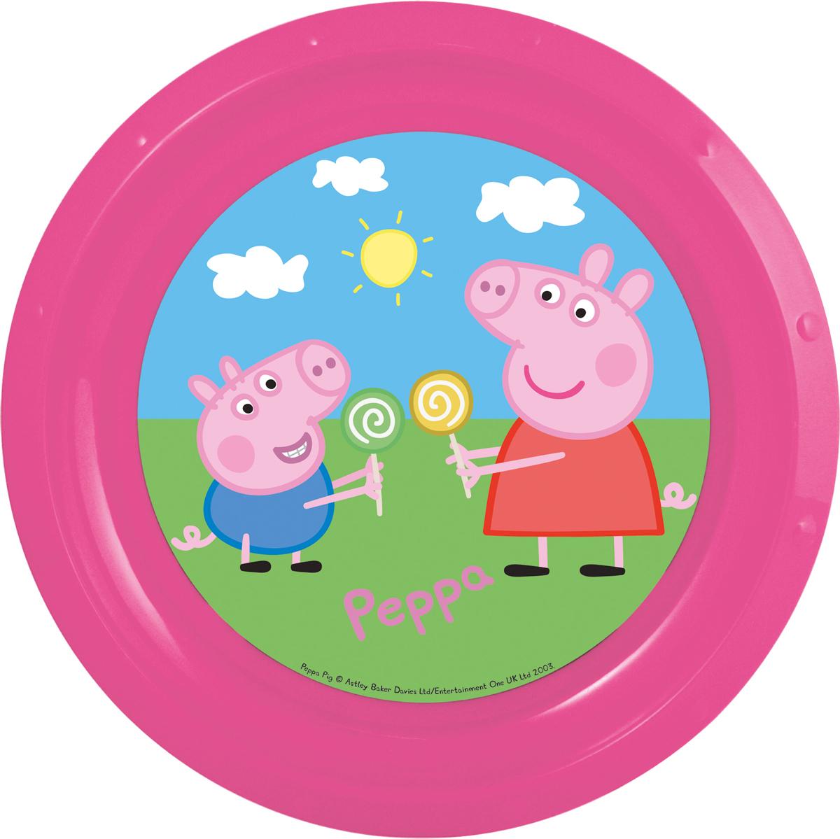 Тарелка детская Свинка Пеппа диаметром 21,5 см.