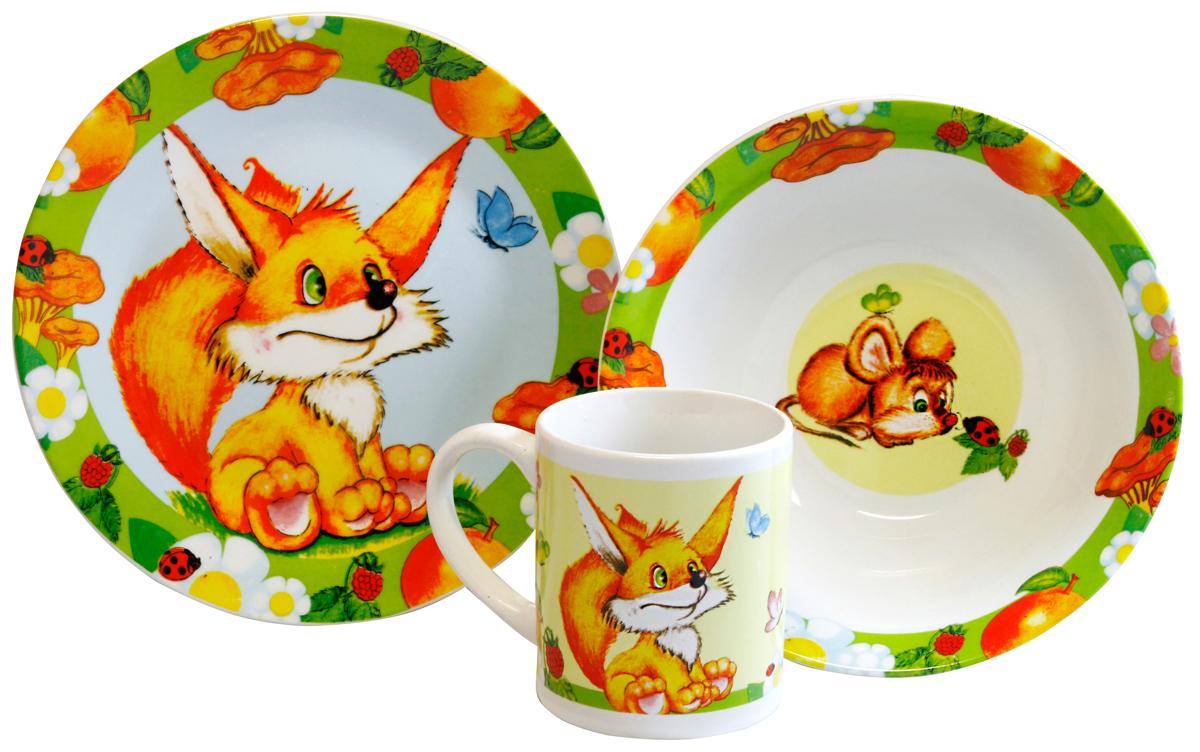 МФК-профит Набор детской посуды Лисичка 3 предмета набор эм 3 предмета 11 йогурт 987943