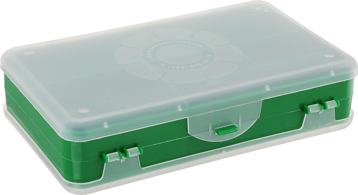Шкатулка для мелочей Айрис, двухсторонняя, цвет: зеленый, прозрачный, 21,5 х 12,5 х 5 см. 533758533758_зеленыйШкатулка для мелочей изготовлена из пластика. Шкатулка двухсторонняя, поэтому в ней можно хранить больше мелочей. Подходит для швейных принадлежностей, рыболовных снастей, мелких деталей и других бытовых мелочей. В одном отделении 4 секции, в другом - 5. Удобный и надежный замок-защелка обеспечивает надежное закрывание крышек. Изделие легко моется и чистится. Такая шкатулка поможет держать вещи в порядке.Размер самой большой секции: 21 х 6 х 2,3 см.Размер самой маленькой секции: 13 х 2,3 х 2,3 см.