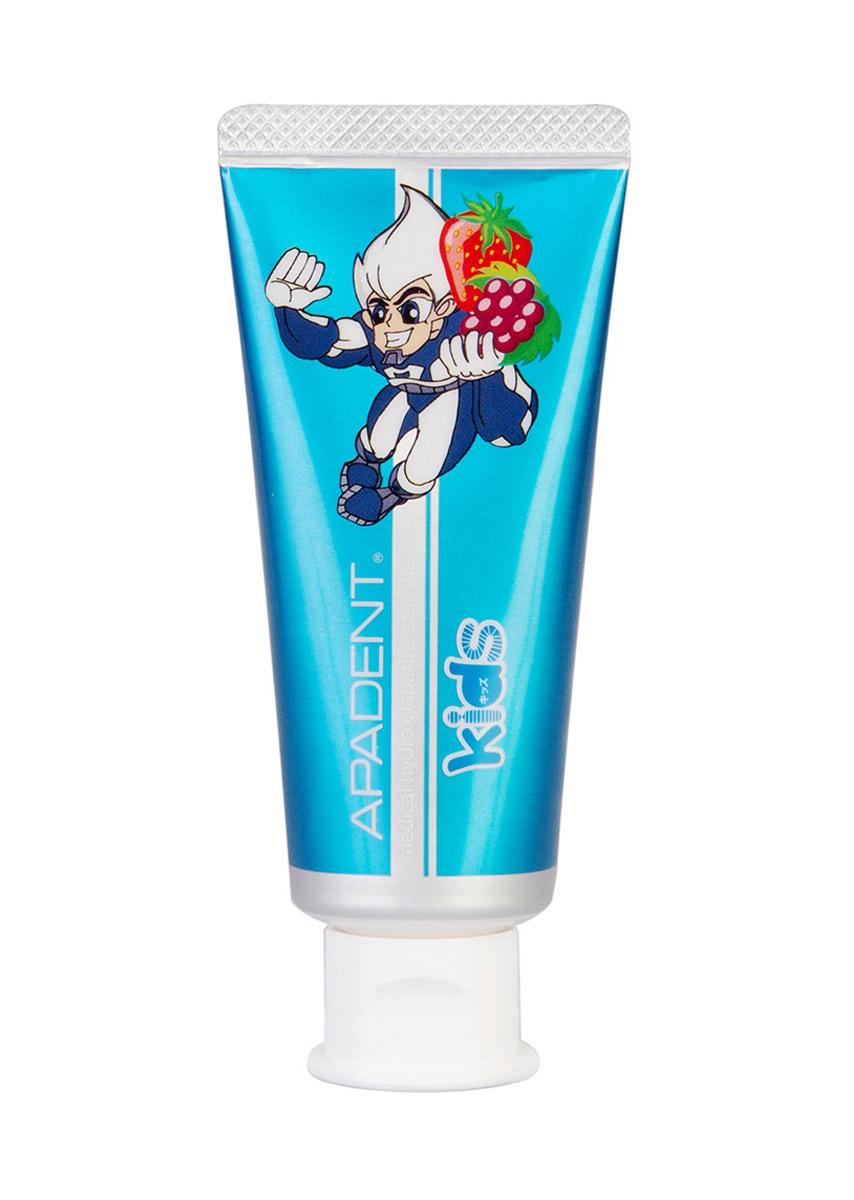 Apadent Детская реминерализующая зубная паста Kids, 60 г00-00000220Зубная паста Apadent KIDS - премиальная японская противокариесная зубная паста с наночастицами медицинского гидроксиапатита (nano-mHAP) для детей• без SLS , фторидов, красителей• рекомендована для детей 0+• Содержит новейшую научную разработку -nano-mHAP - основной поставщик кальция и фосфора, так необходимых для роста здоровых и крепких зубов у ребенка• nano-mHAP обеспечивает формирование крепкой и гладкой зубной эмали, лучшей естественной защиты от появления кариеса• Эффективно уничтожает кариес на ранних стадиях• Эффективно удаляет зубной налет и скапливающиеся в нем бактерии, защищая детские зубы от воздействия кислоты и образования зубного камня. Обеспечивает эффективную ежедневную гигиену полости рта ребенка• Восстанавливает микротрещины и микродефекты детской зубной эмали. Зубная паста c нано-гидроксиапатитом APADENT KIDS обладает приятным фруктовым вкусом и рекомендована для детей, начиная с рождения.