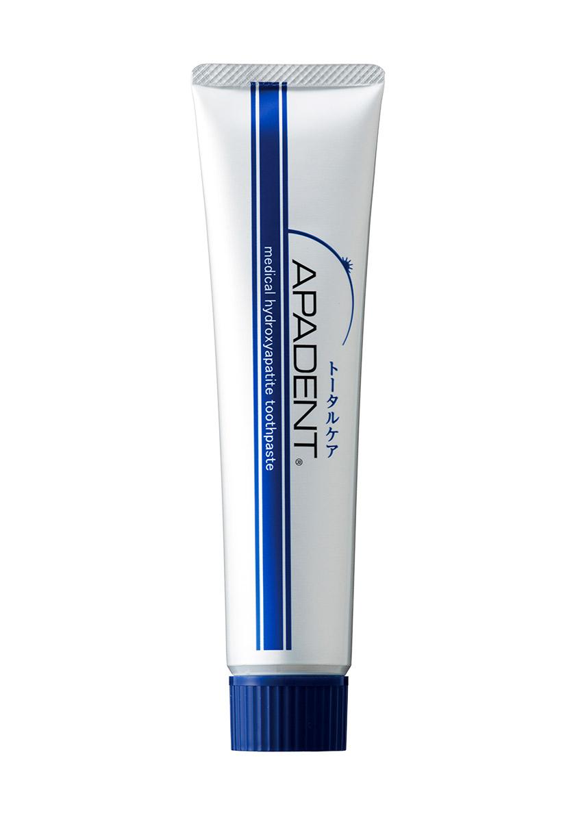 Apadent Реминерализующая зубная паста, 120 г00-00000223Первая в мире зубная паста APADENT с наночастицами медицинского гидроксиапатита (nano-mHAP) - эффективное профилактическое средство, восстанавливает минеральный баланс зубных тканей и зубной эмали, предотвращает и борется с кариесом, обеспечивает эффективную гигиену и защиту полости рта.- премиальная противокариесная зубная паста с наночастицами, произведена в Японии - основное действующее вещество - nano-mHAP - восстанавливает зубную эмаль - эффективно удаляет зубной налет - одобрена Минздравом Японии как противокариесное средство - предотвращает кариес на 46% APADENT - зубная паста для всей семьи, рекомендована взрослым и детям, а также мамам и людям, носящим брекеты.